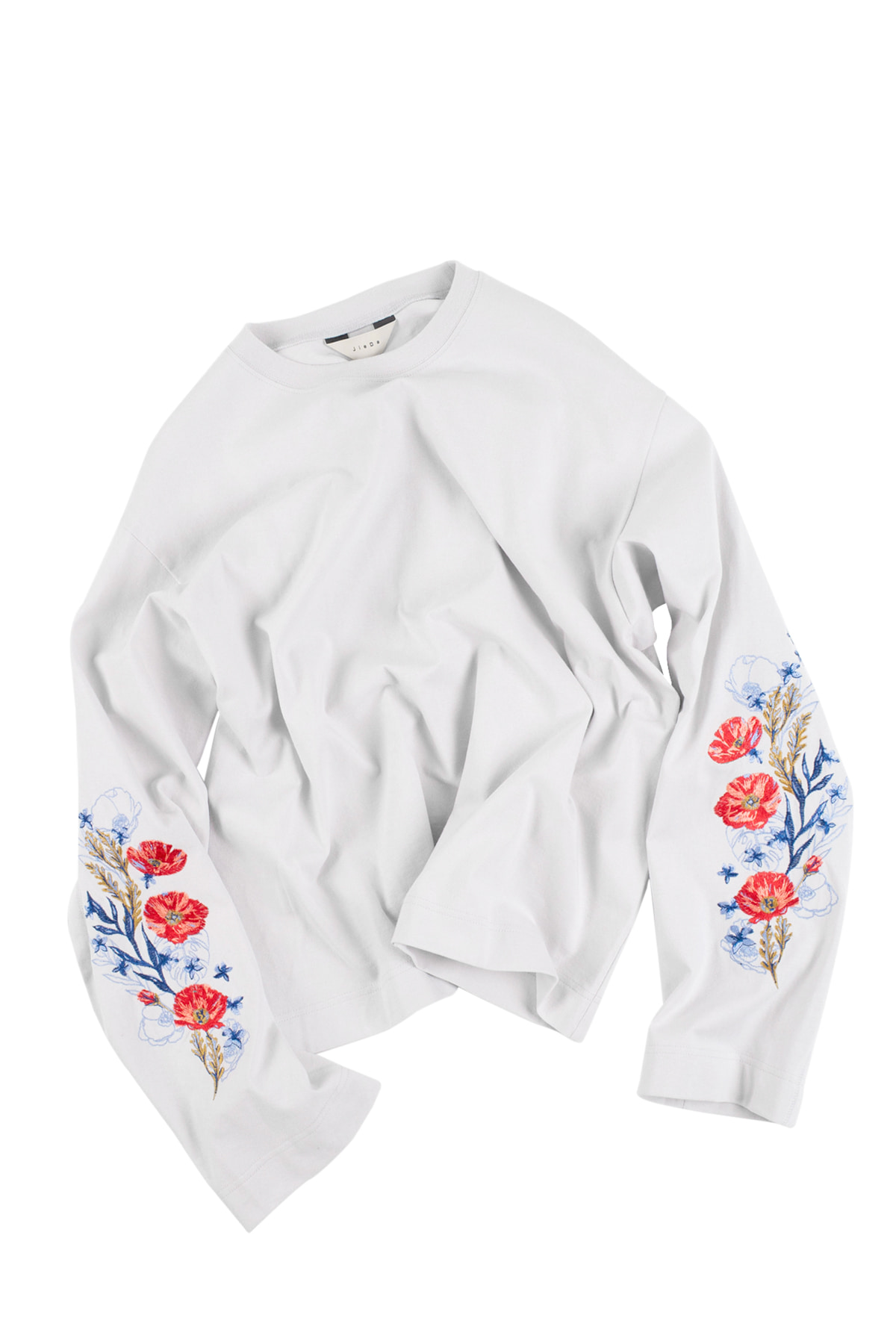 JieDa : Flower Embroiderey L/S (White)