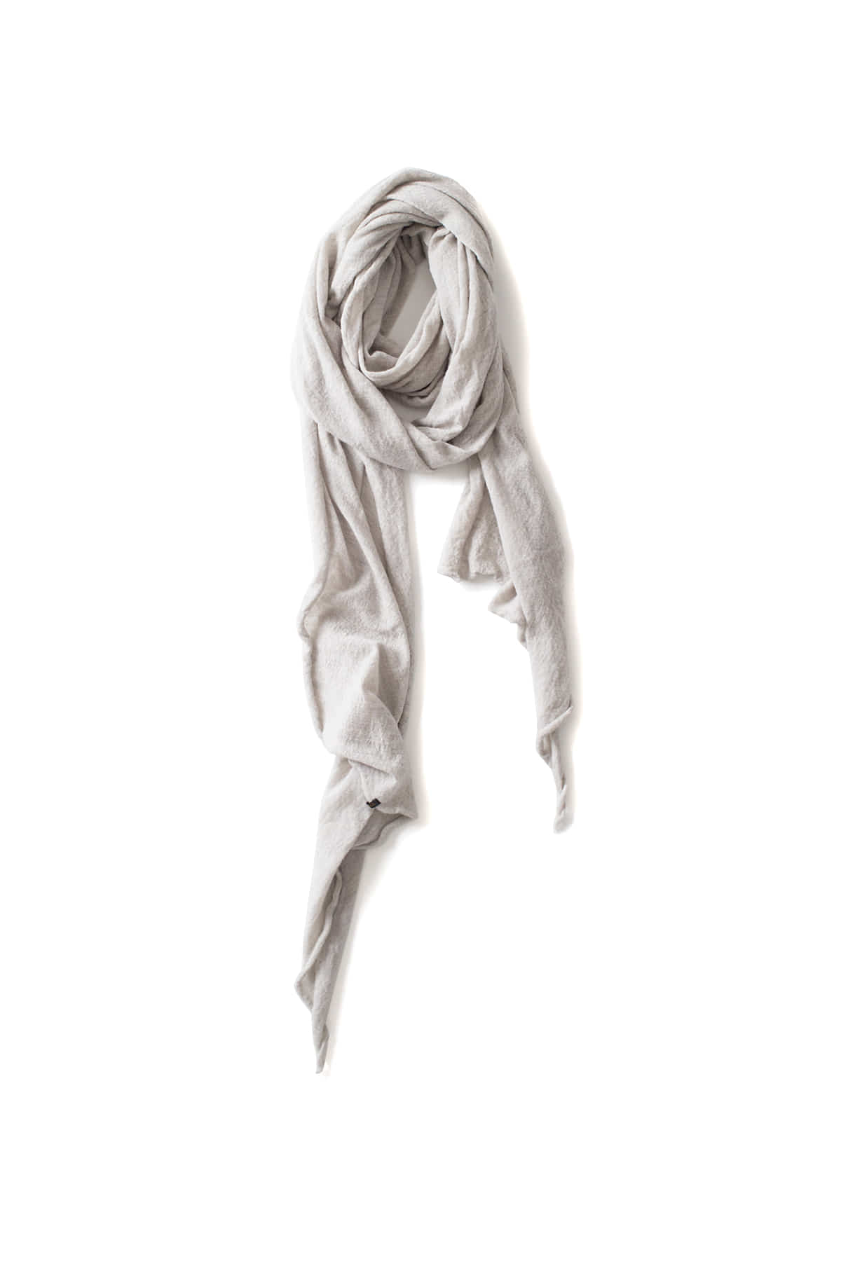RYU : Washable Wool Gauze Stole (Ice Gray)