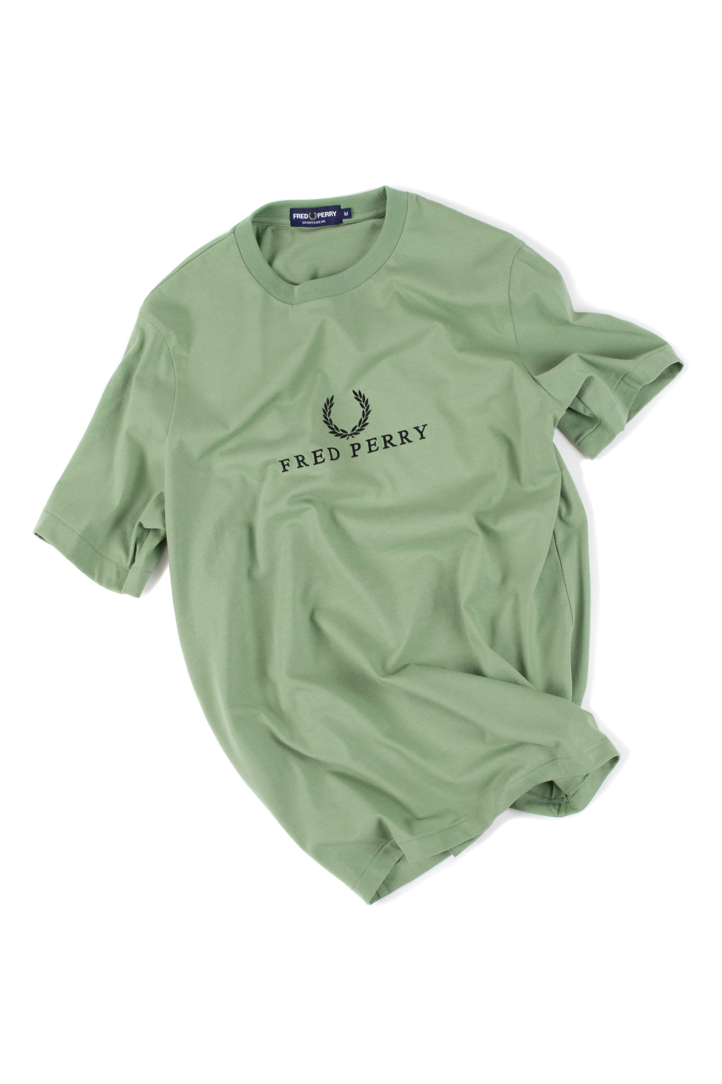 FRED PERRY : Embroidered T-Shirt (Green)