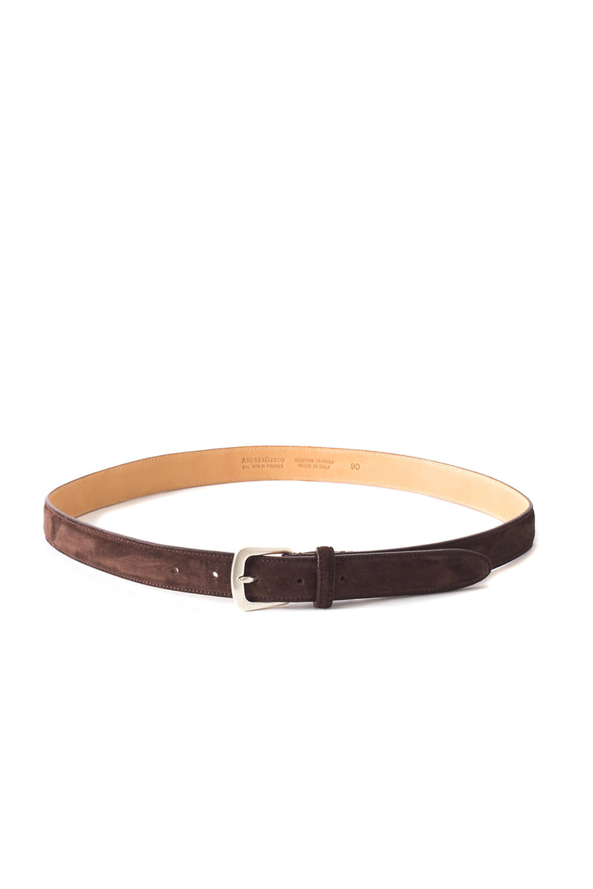 ANDREA GRECO : Cachemere Suede Calf Leather Belt (Sella)