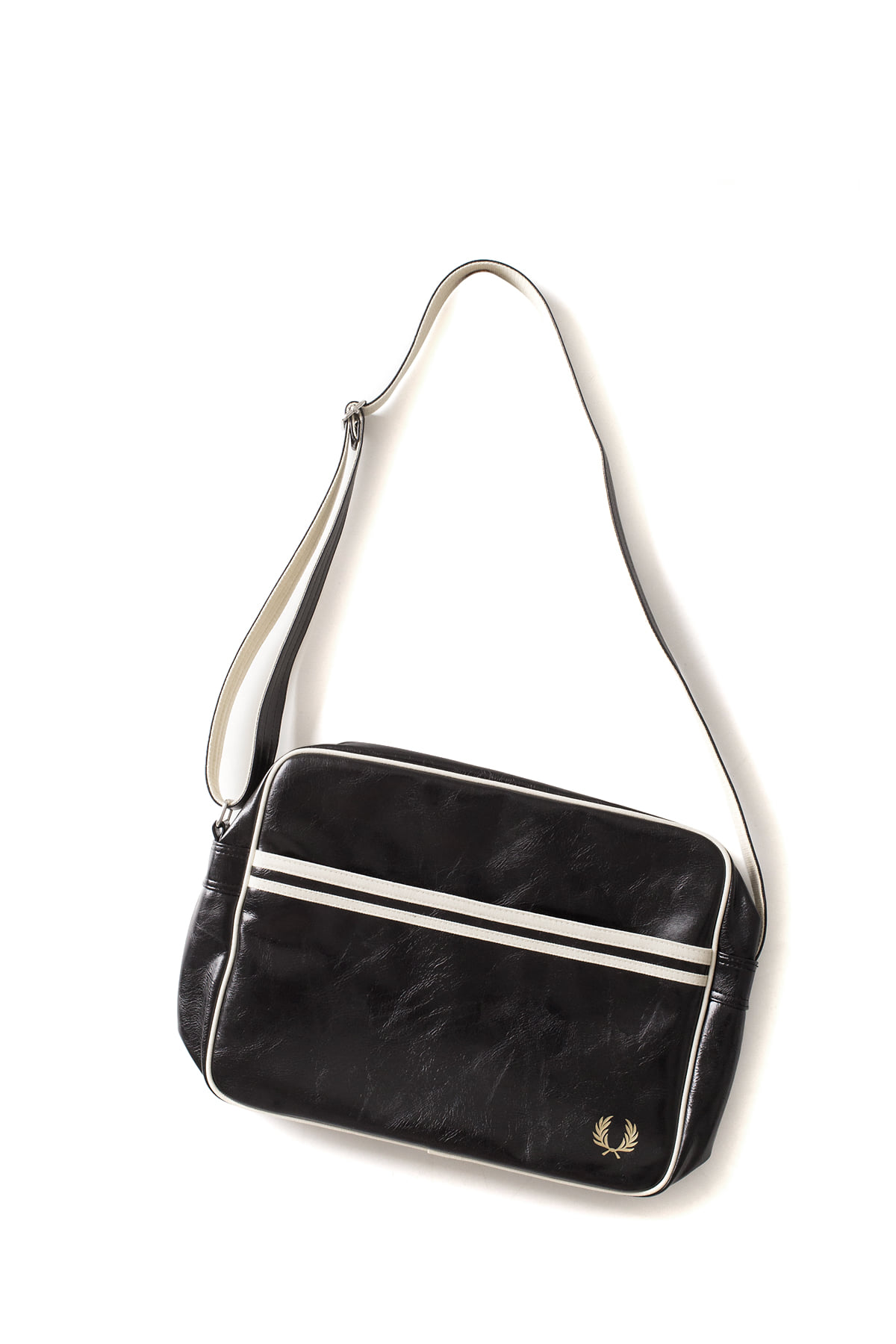 FRED PERRY : Classic Shoulder Bag (Black / Ecru)