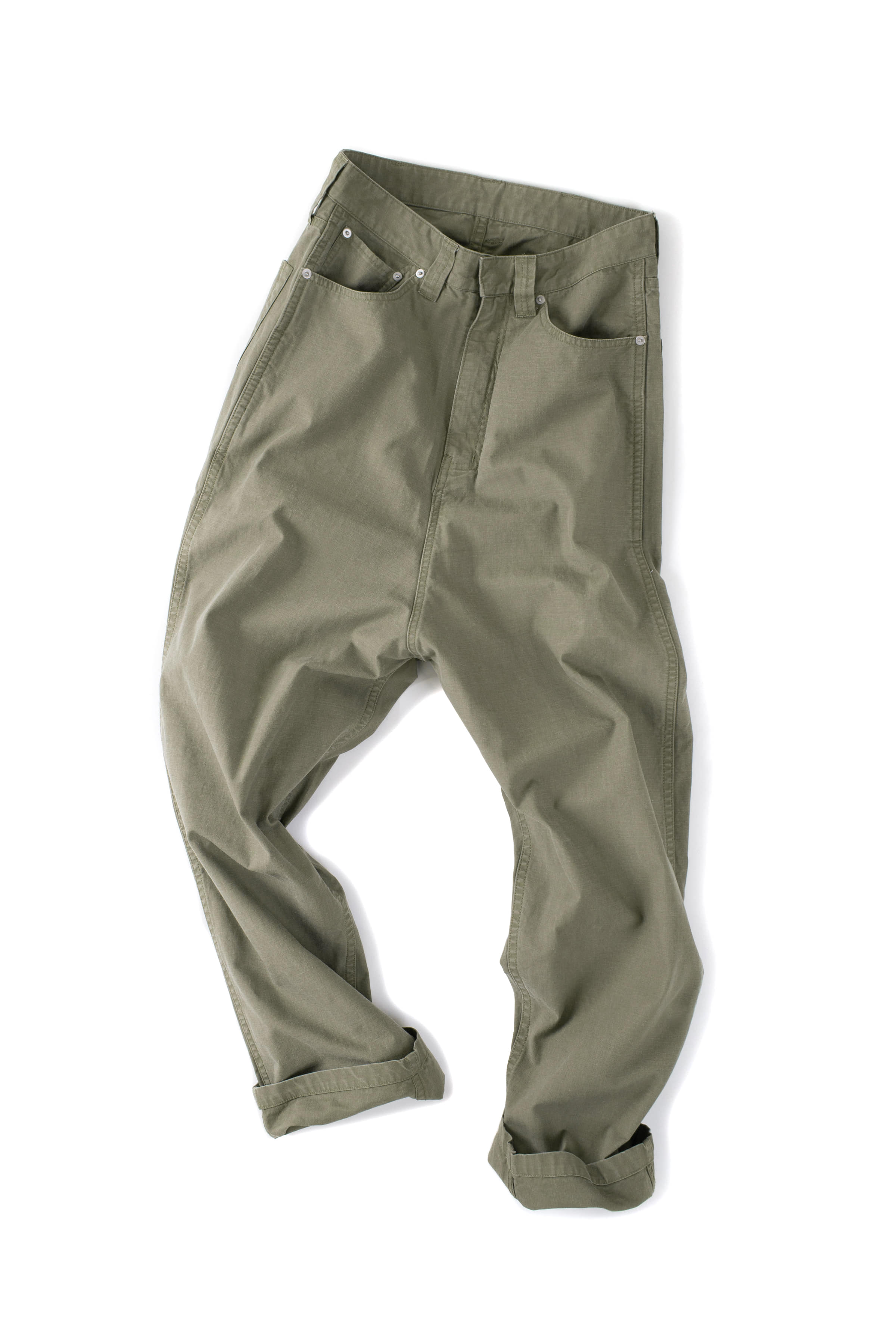 CLAMP : Crown Denim Pants (Olive)