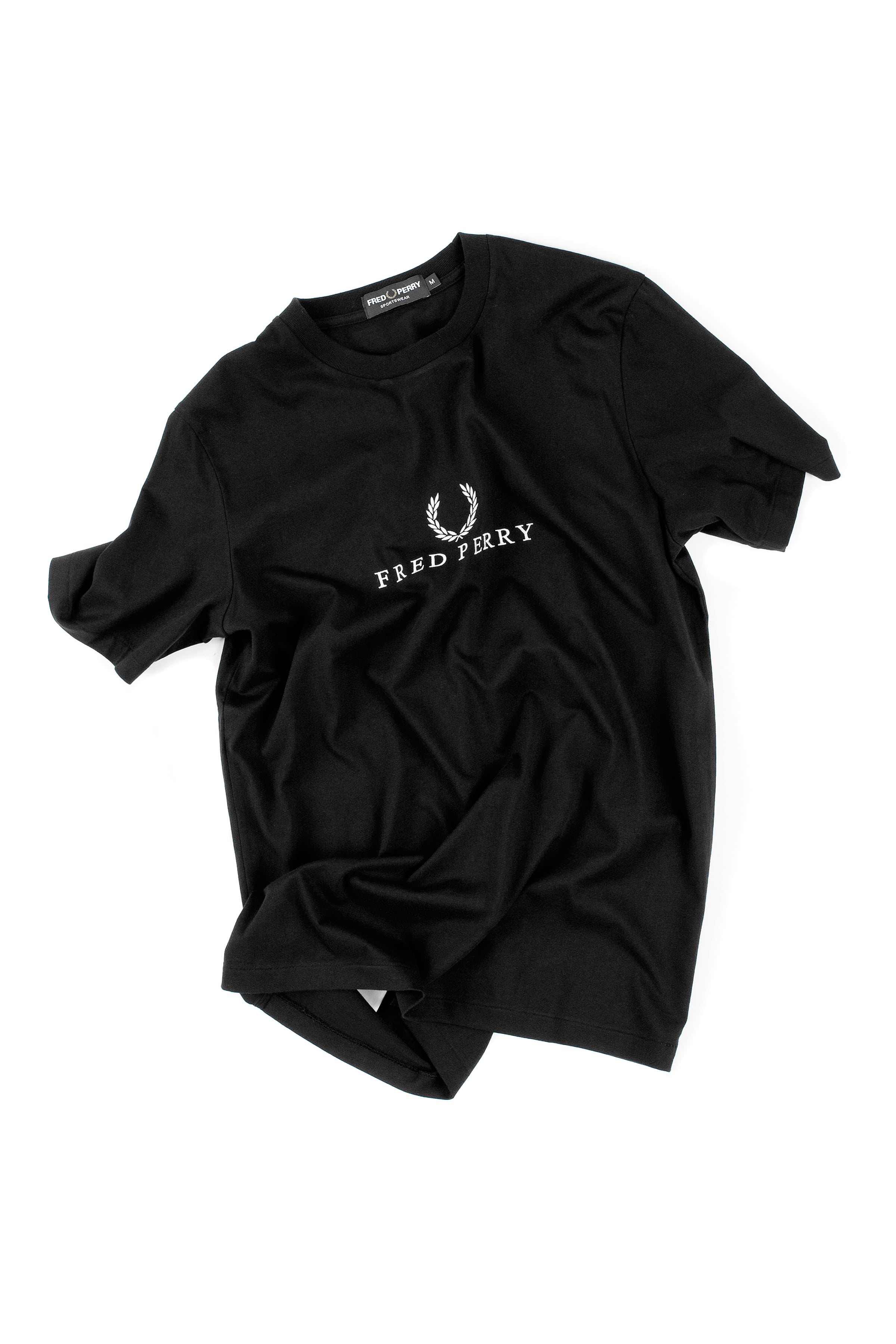 FRED PERRY : Embroidered T-Shirt (Black)