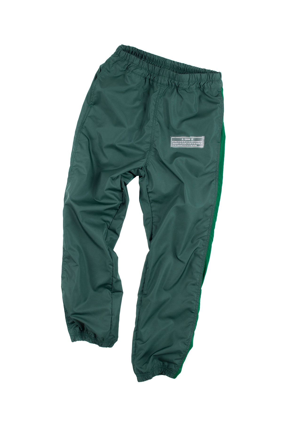 JieDa : Switching Nylon Pants (Green)