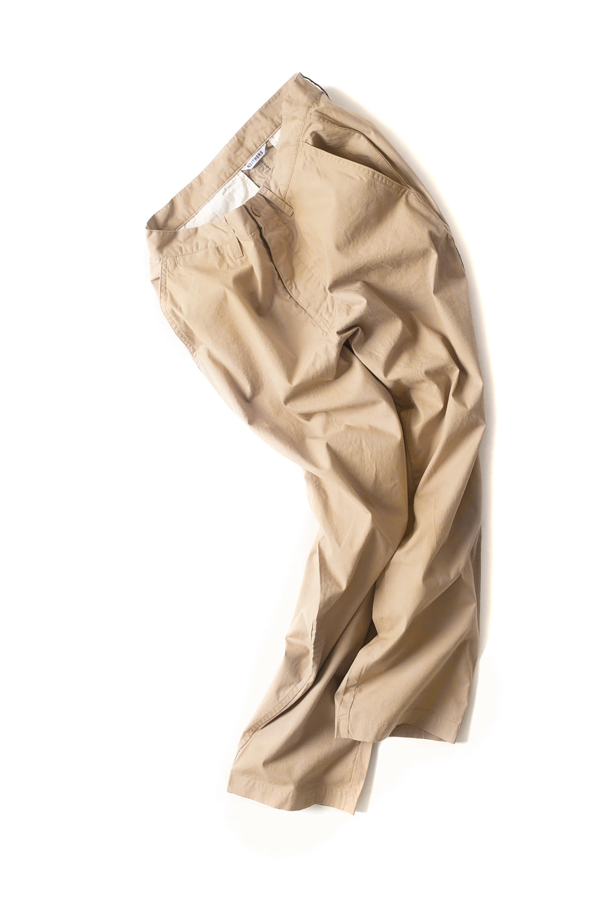 NEITHERS : Cut Off Crop Pants (Beige)