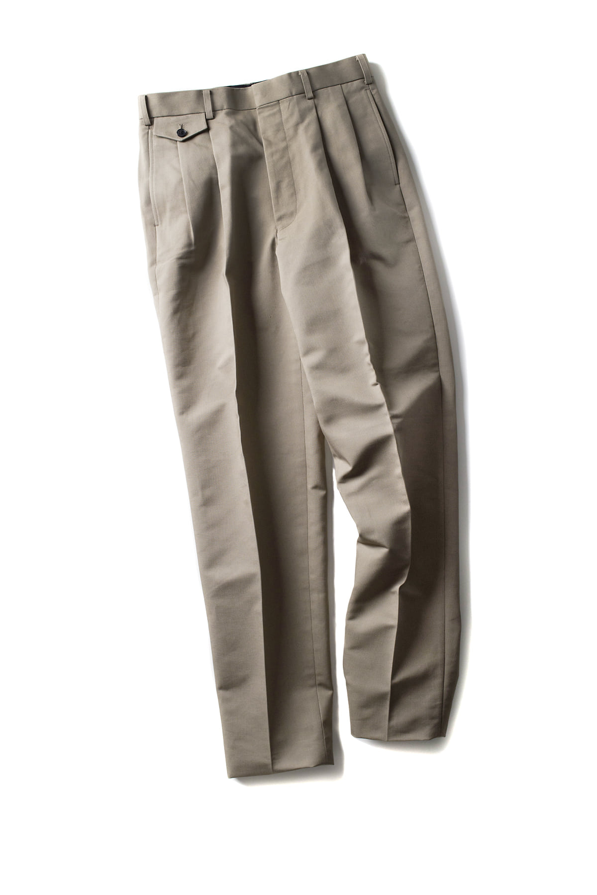 JOHN LAWRENCE SULLIVAN : 2Pleat Trousers (Beige)
