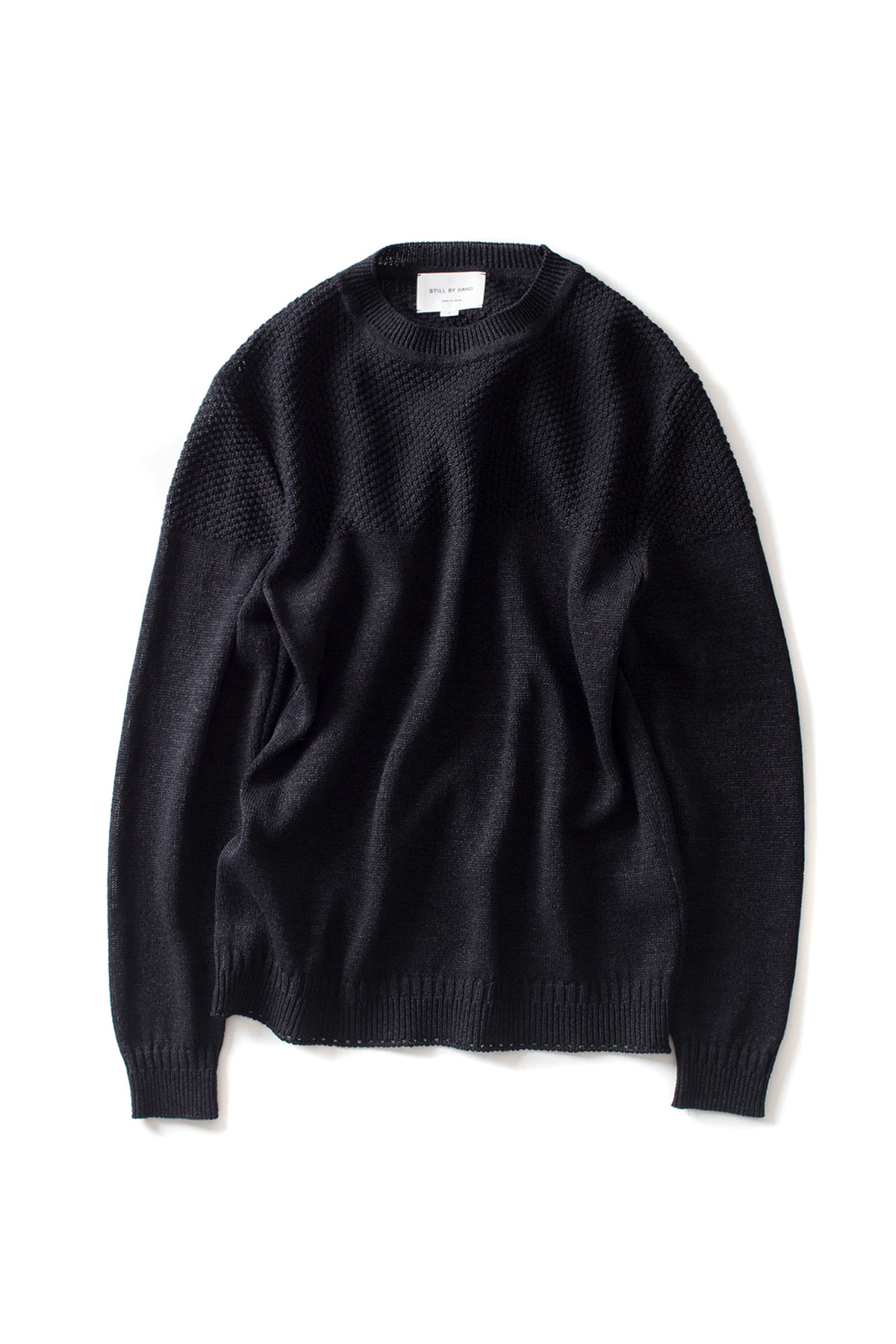 Still by Hand : Long Sleeve Paper Knit (Black)