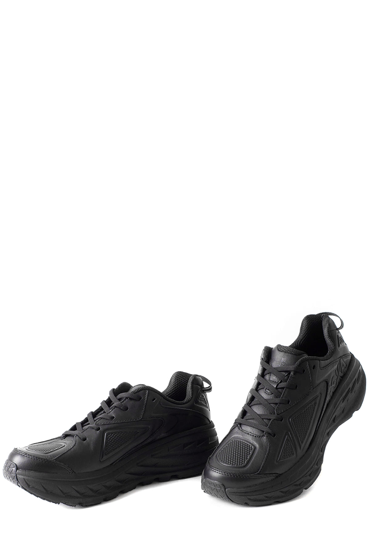 HOKA ONE ONE : Bondi Leather (Black)