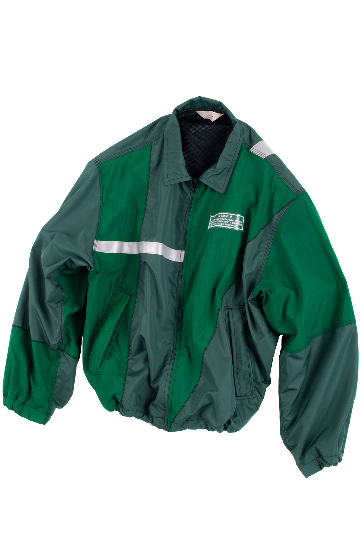 JieDa :  Nylon Switching Jacket (Green)