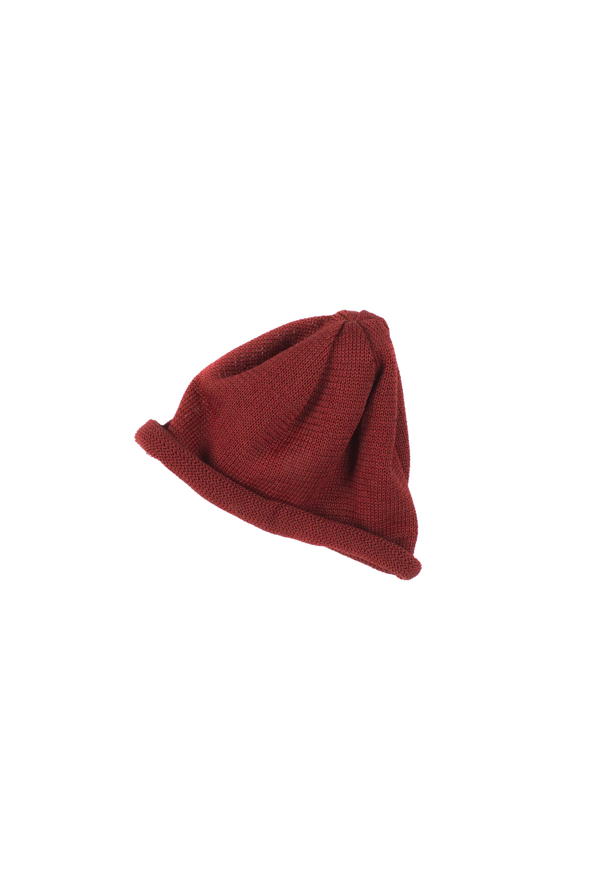 Infielder Design : Straw Roll Knit Cap (Red)