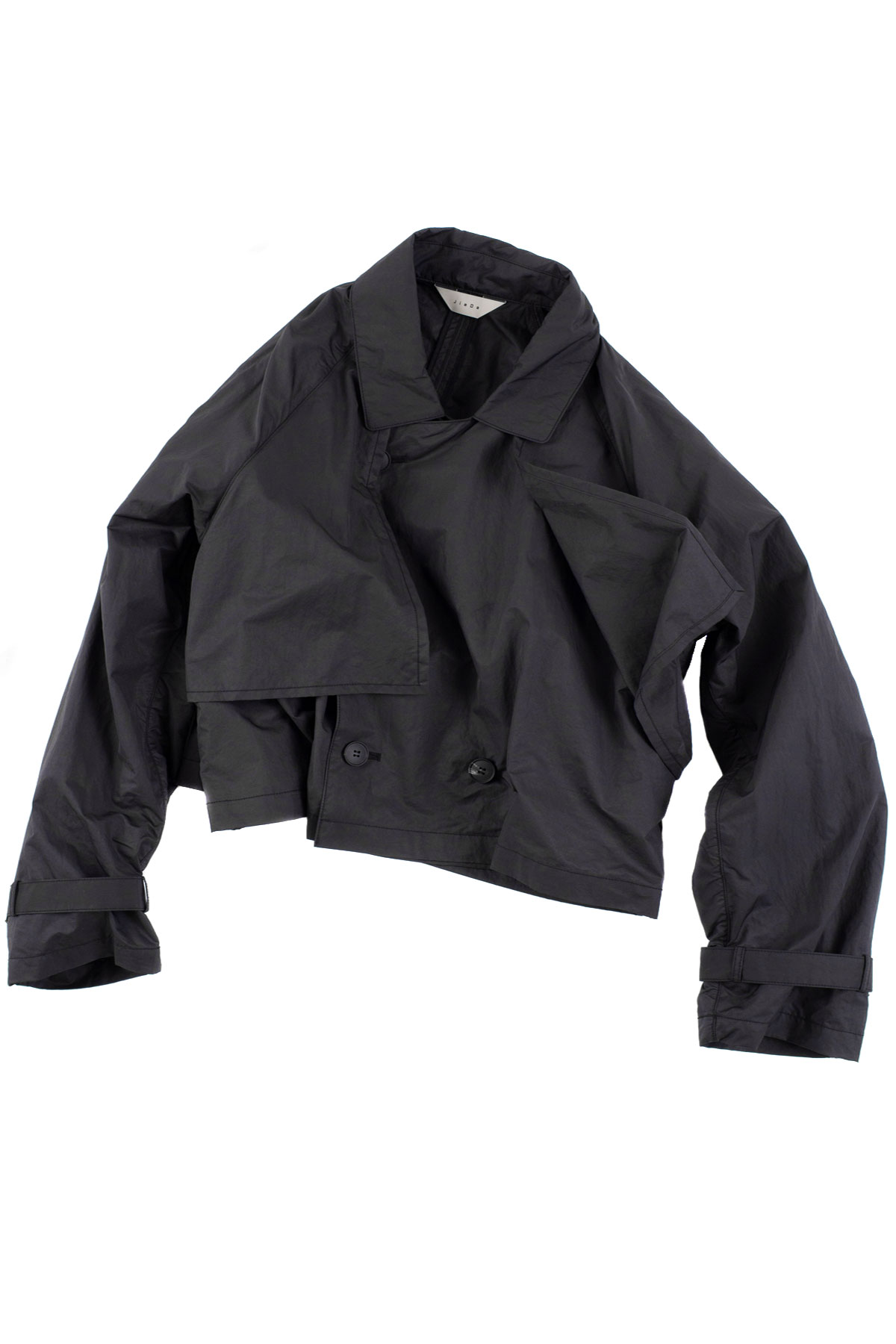 JieDa : Short Trench Jacket (Black)