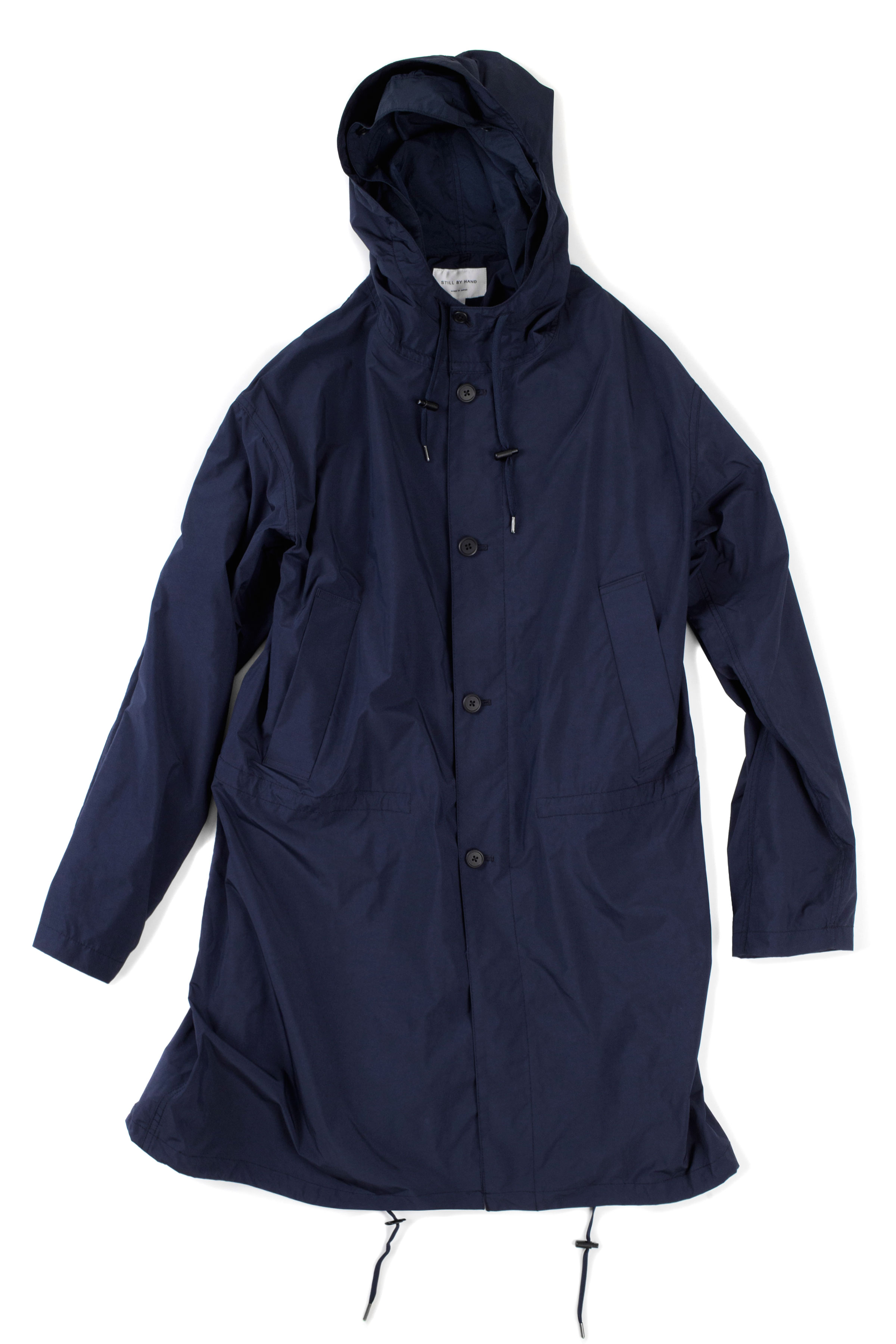 Still by Hand : CO0291OS Coat (Navy)