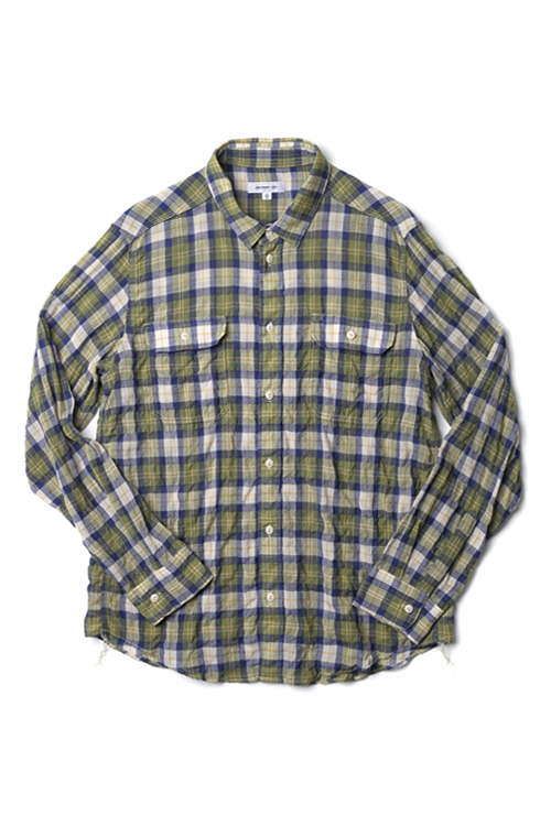 ordinary fits : Wool Work Shirt (Green)