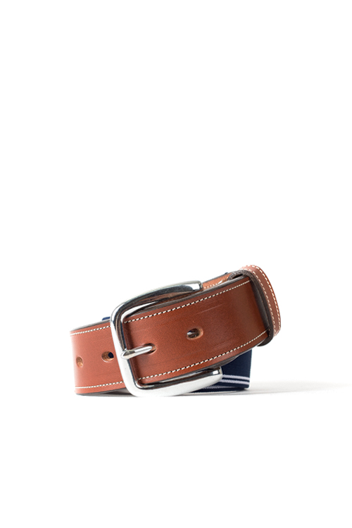 Tory Leather Co. : Navy Elastic Belt
