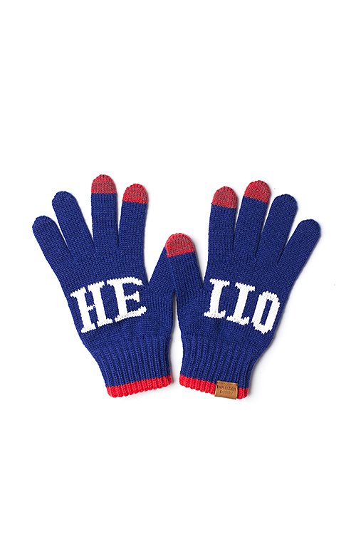 Infielder Design : HELLO Gloves (Blue)