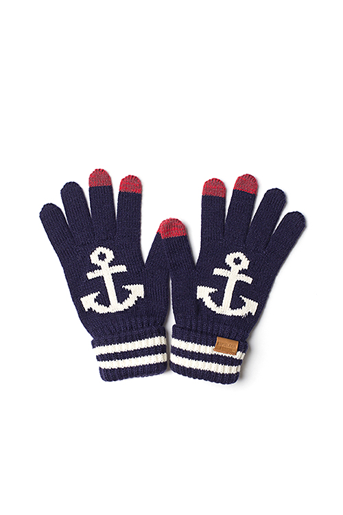 Infielder Design : Anchor Gloves (Navy)