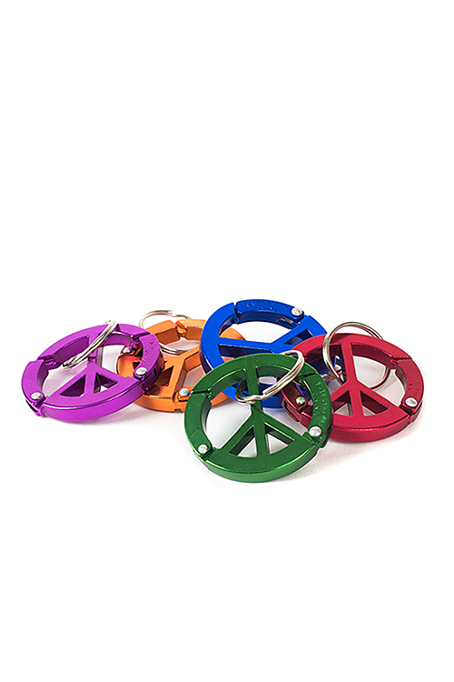 Bison Designs : Peace Sign Carabiner (5col)