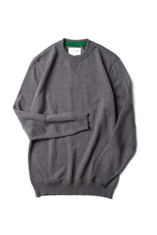 Still By Hand : Elbow Patch Knit (Grey)
