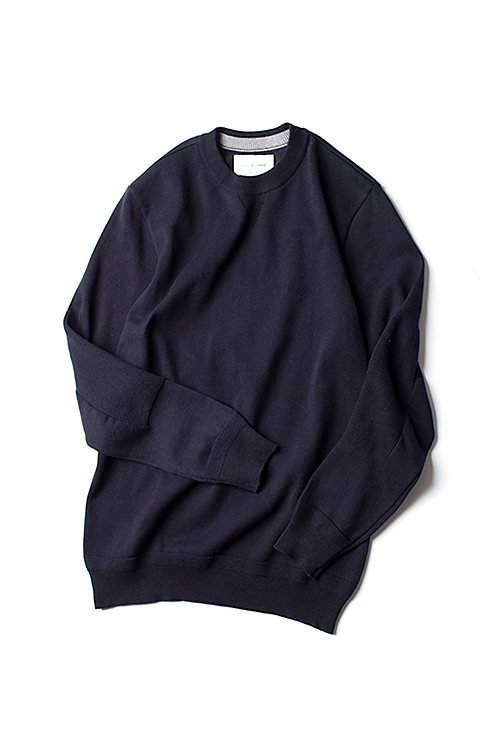 Still By Hand : Elbow Patch Knit (Navy)