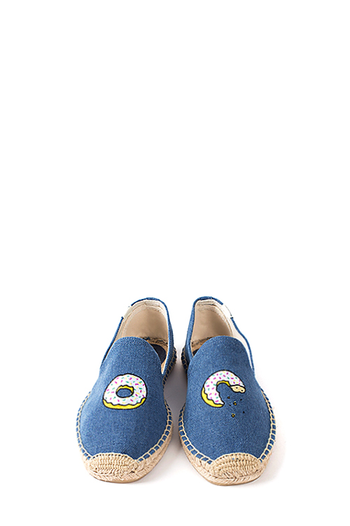 Soludos : Jason Polan For Soludos Collabo (Donut Vintage Denim)