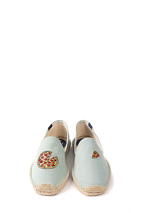 Soludos : Jason Polan For Soludos Collabo (Pizza Chambray)
