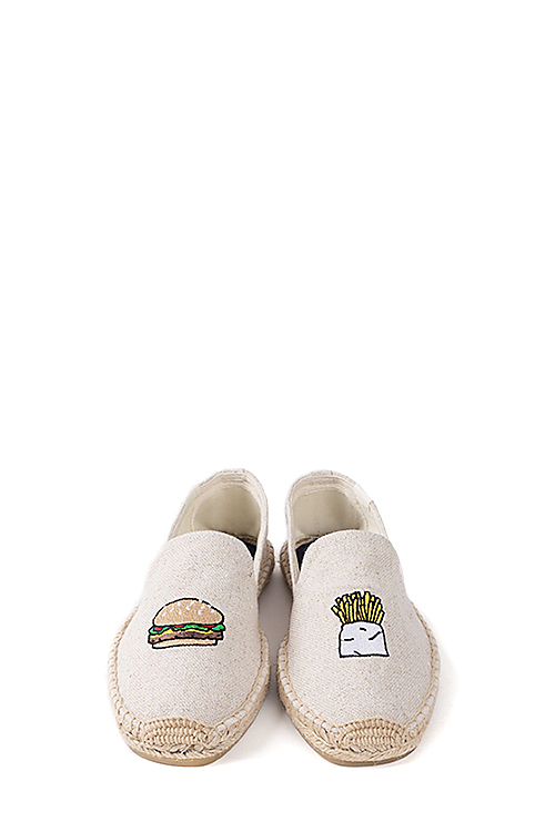 Soludos : Jason Polan For Soludos Collabo (Hamburger Fries Sand)