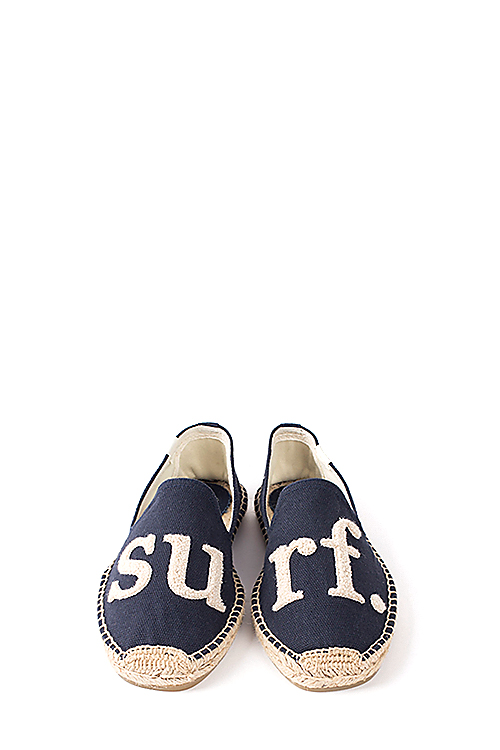 Soludos : Cuisse de Grenouille - Smoking Slipper (Surf. Navy Natural)