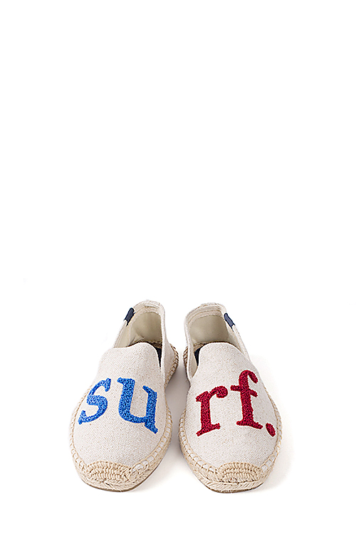 Soludos : Cuisse de Grenouille - Smoking Slipper (Surf. Natural Red Blue)