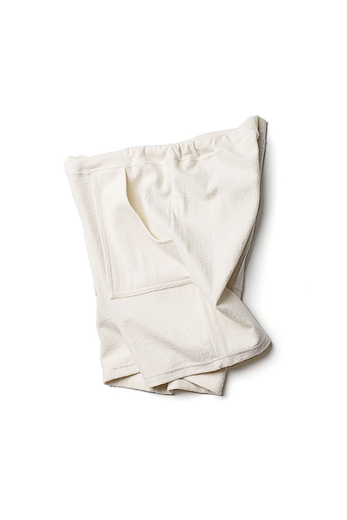 Daily Wardrobe Industry : Pile Shorts (Cream)