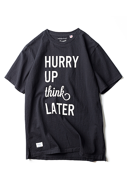 Barns Outfitters : USA Made Print T 'Hurry Up' (Black)