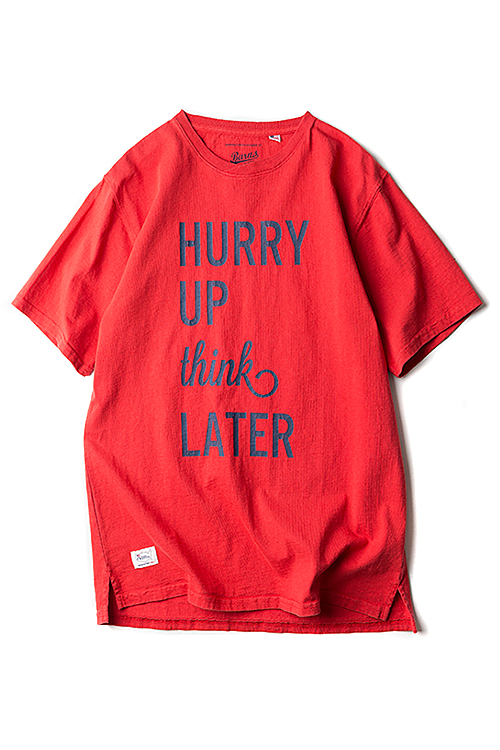 Barns Outfitters : USA Made Print T 'Hurry Up' (Red)