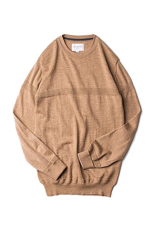 Still By Hand : Line Knit Pullover (Camel)