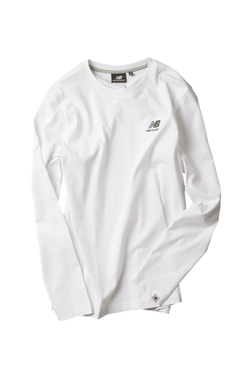 New Balance : UNI Basic Long Sleeve (White)