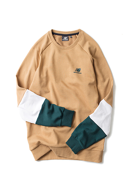 New Balance : UNI Back+Sleeve Color Block (Beige)