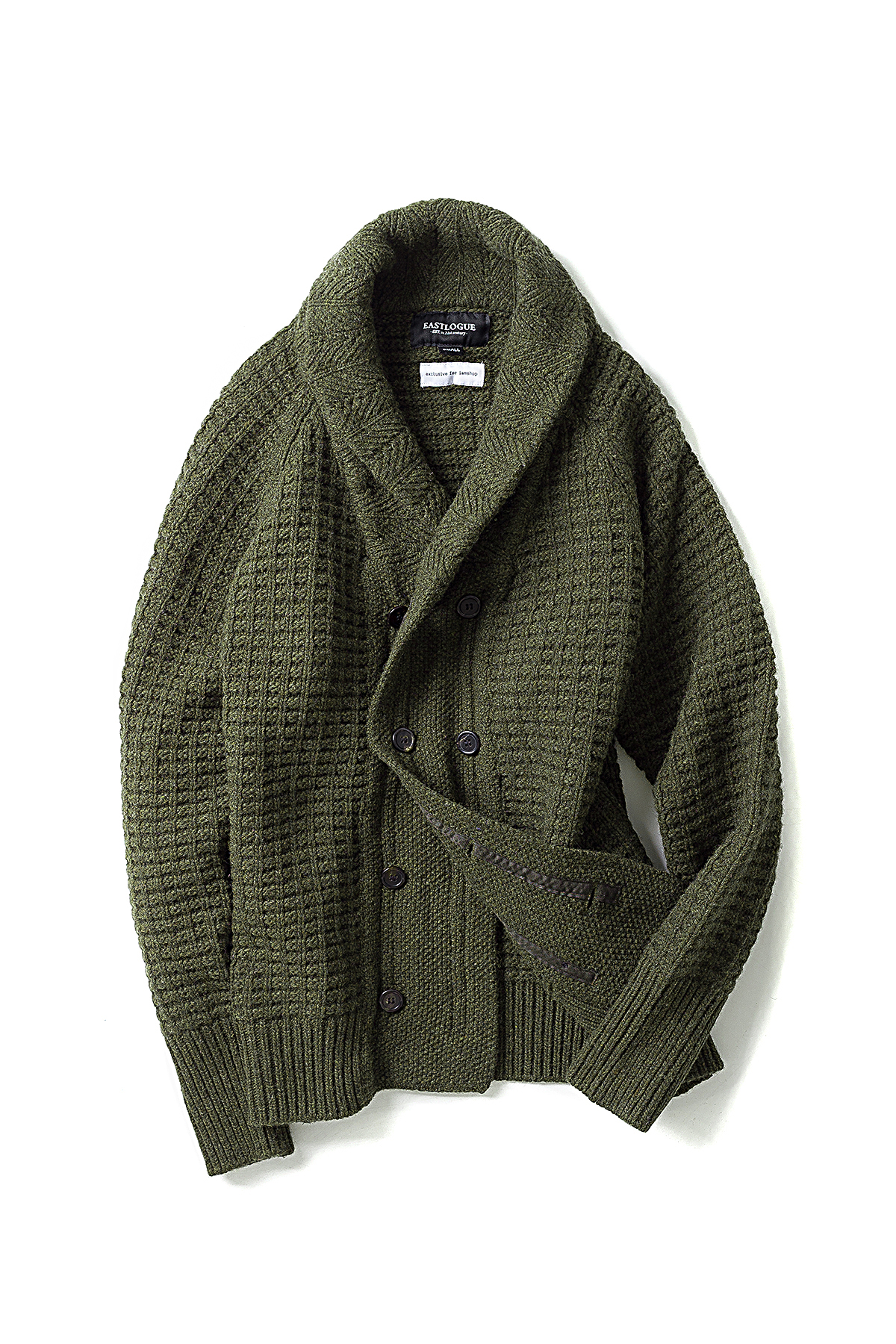 I AM SHOP X EL : Aran Jumper (Olive)