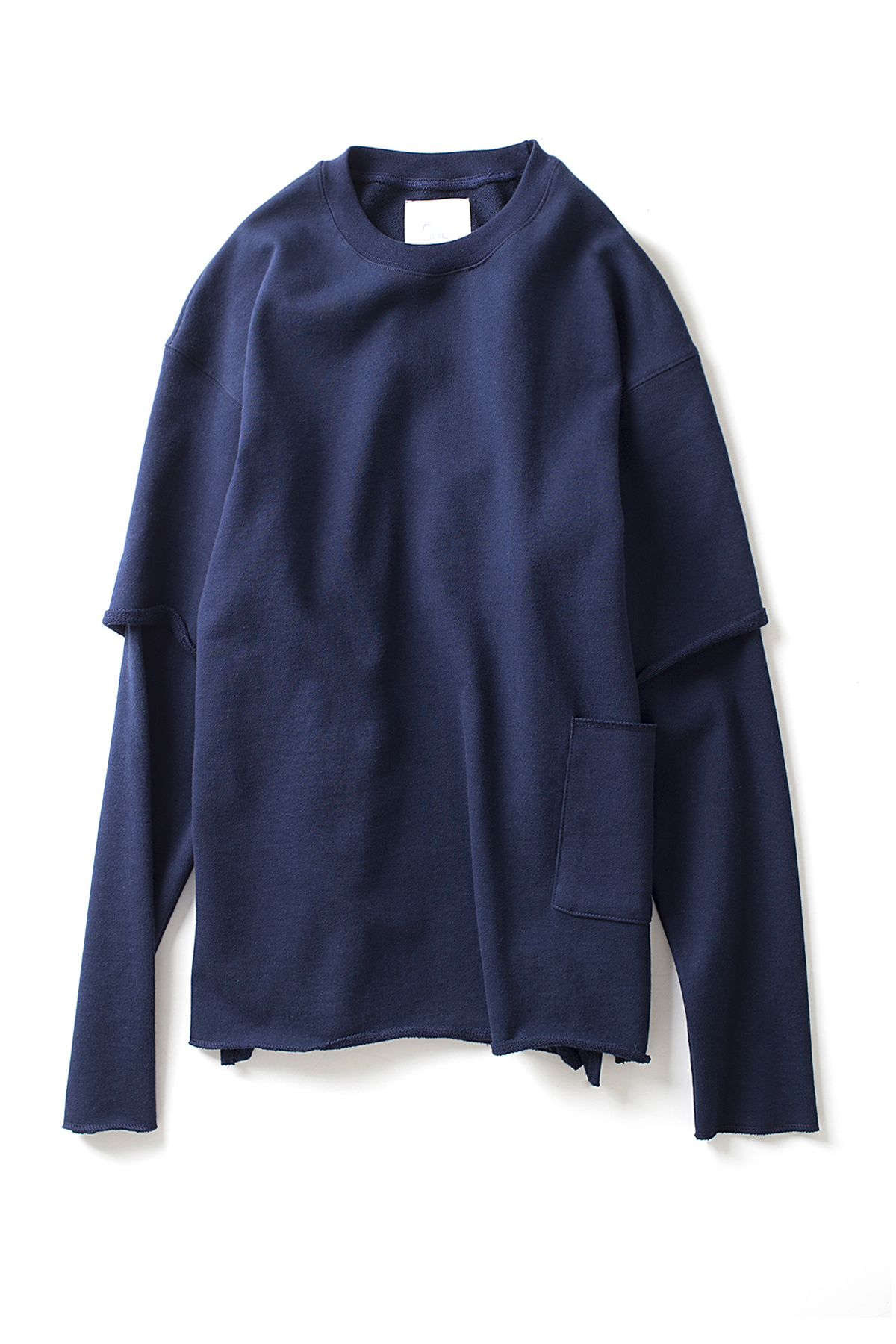 GAKURO : Layered Sleeve Sweatshirt (Navy)