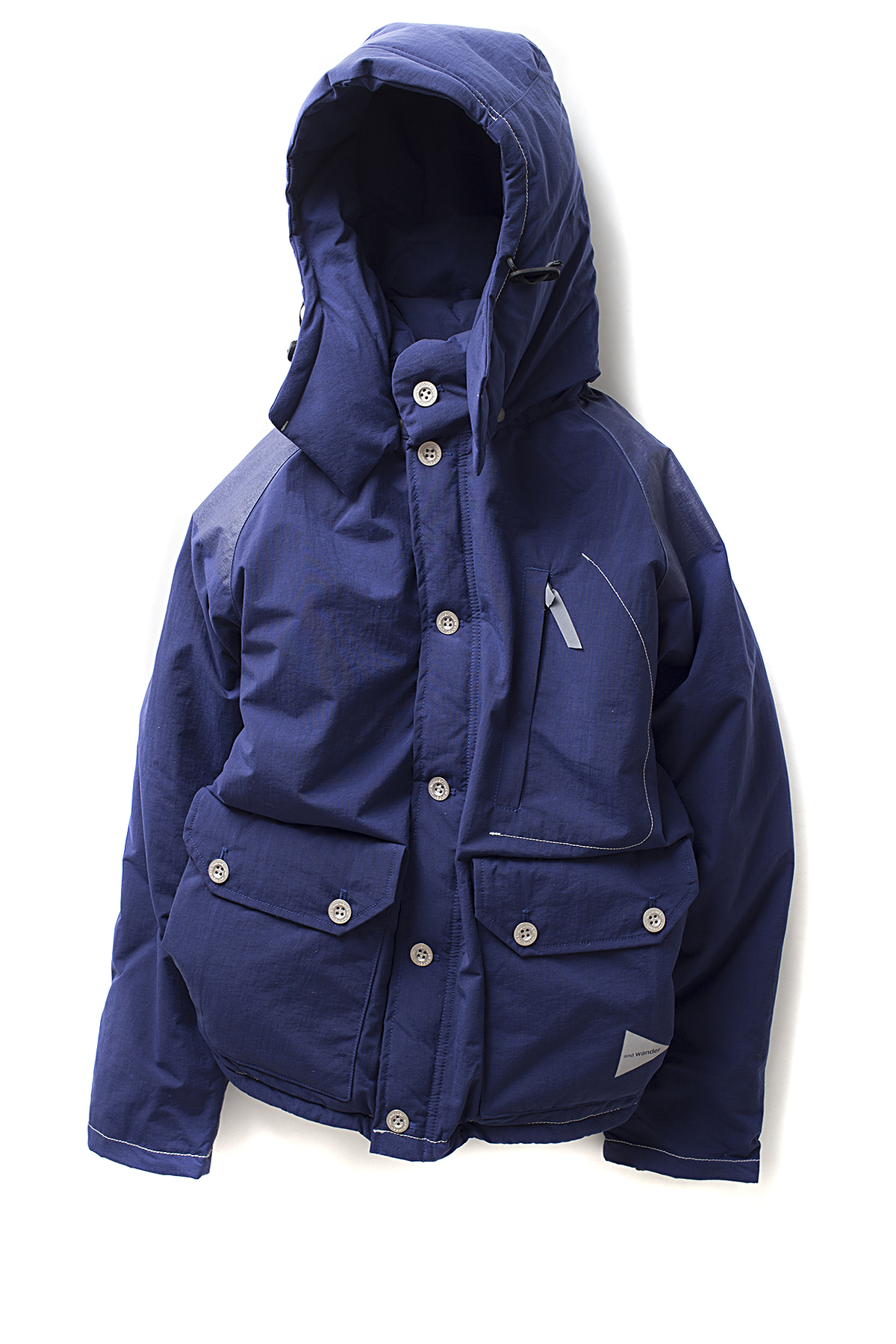 and wander : Down Jacket (Blue)