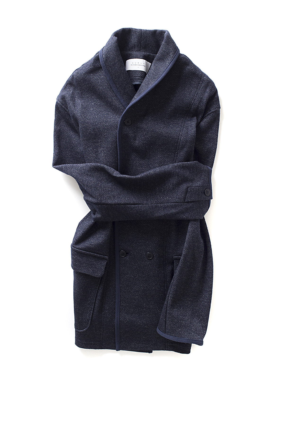 Curly : Split Shawl Jacket (Navy)