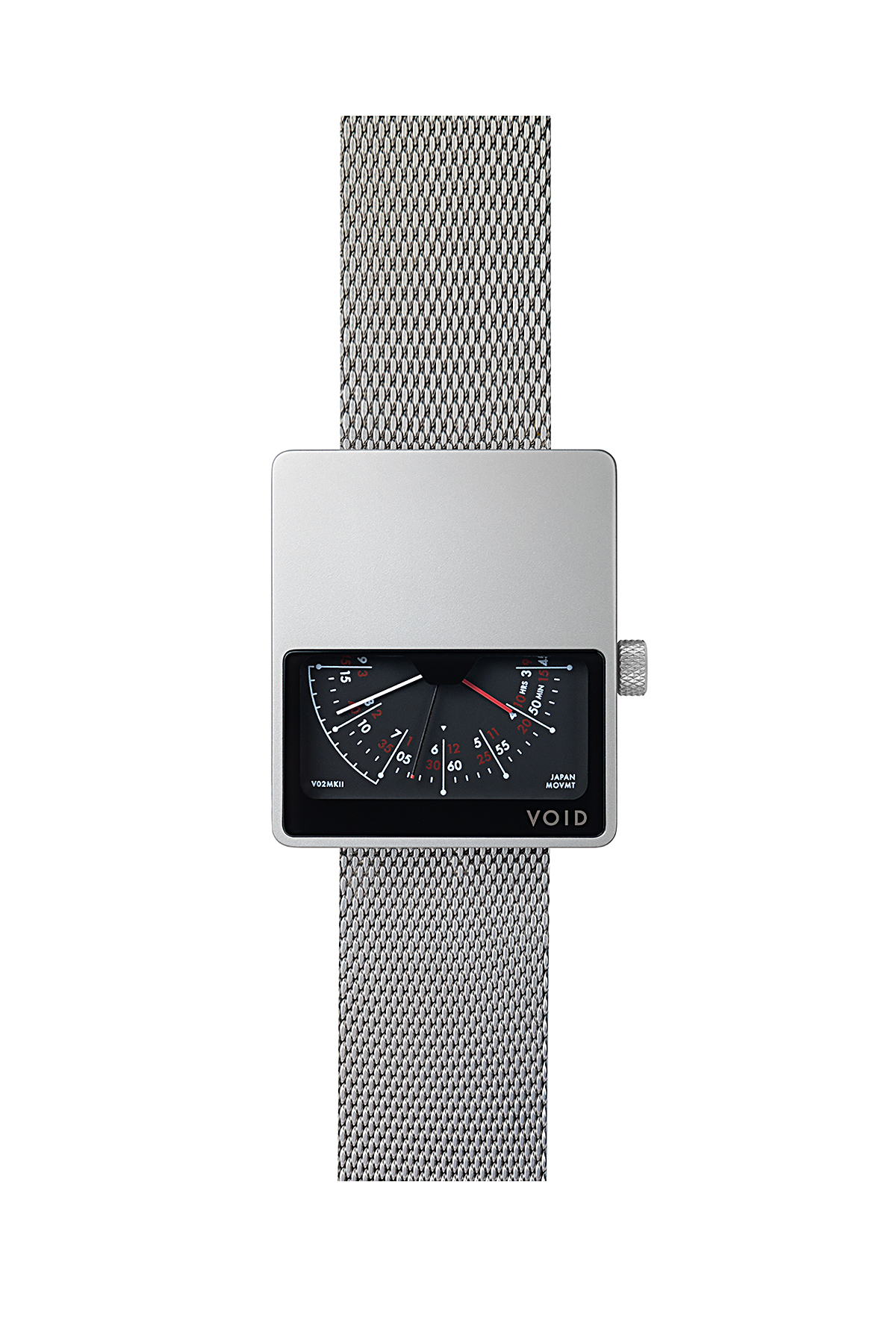 VOID WATCHES : V02 MK2 (Silver / Metal Silver)