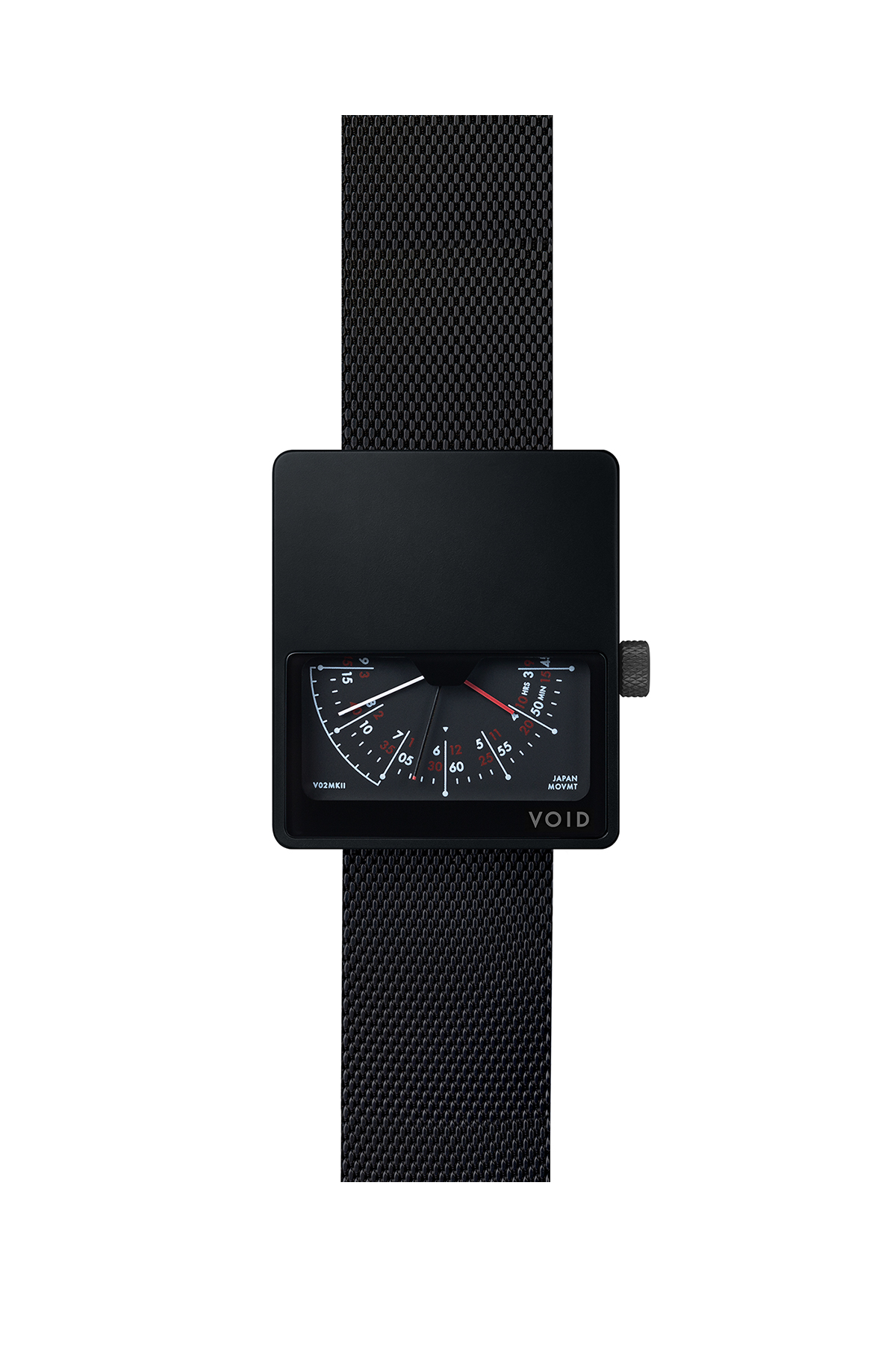 VOID WATCHES : V02 MK2 (Black / Metal Black)